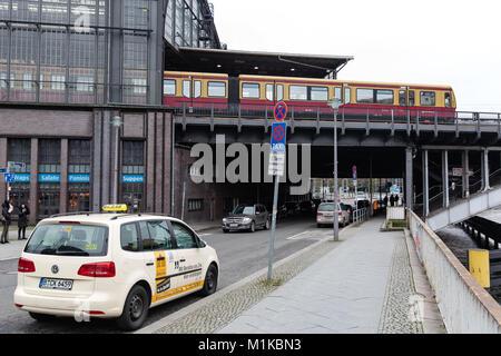 Berlin Friedrichstraße station, Germany - Stock Photo