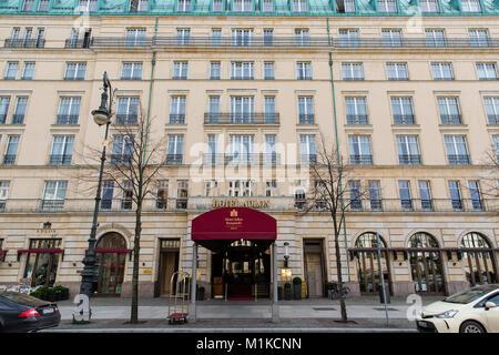 Main entrance to Hotel Adlon Kempinski, Berlin, Germany - Stock Photo