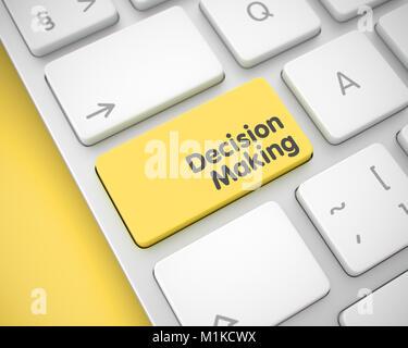 Decision Making - Inscription on Yellow Keyboard Keypad. 3D. - Stock Photo