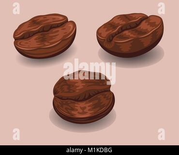 """Roasted Coffee Beans"" The document has different layers and all the layers can be use without the background, shadows - Stock Photo"