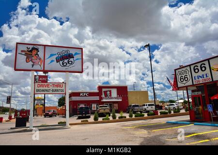 GALLUP, NEW MEXICO - JULY 22: Legendary Route 66 Diner is a classic on historic highway Route 66 on July 22, 2017 - Stock Photo
