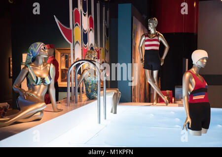 London, UK. 31st Jan, 2018. Exhibits at the Ocean Liners: Speed and Style exhibition at the Victoria and Albert - Stock Photo