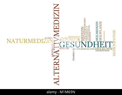 Wortwolke zu Medizin und Alternativmedizin - Stock Photo