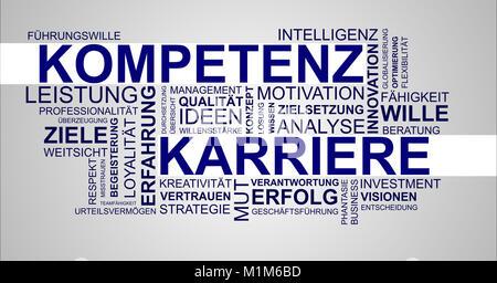 Wortwolke zu Kompetenz und Karriere - Stock Photo