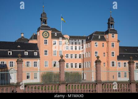 Schloss Schwetzingen, Schwetzingen- Palace, Schwetzingen, Baden-Wurttemberg, Germany, Europe - Stock Photo