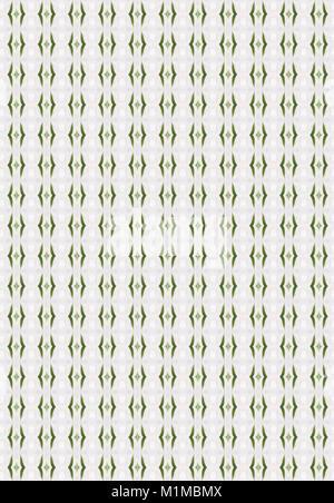 seamless green ornamental white pattern background - Stock Photo