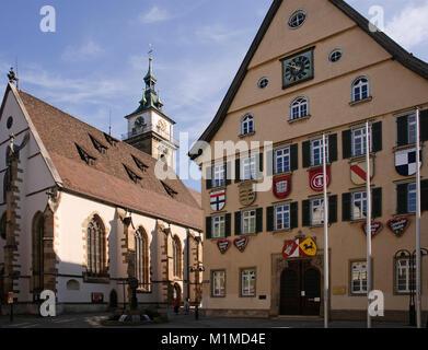 Rathaus Bad Cannstadt, Baden-Württemberg, Deutschland - Stock Photo