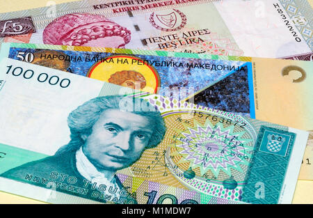 European Currency Bank Notes - Stock Photo