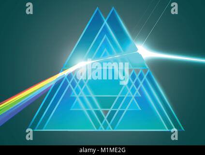 Prisms and refraction - Stock Photo