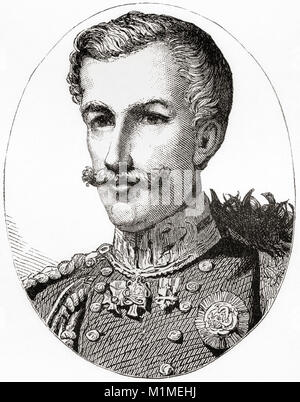 Charles Albert, 1798 – 1849.  King of Sardinia. From Ward and Lock's Illustrated History of the World, published - Stock Photo