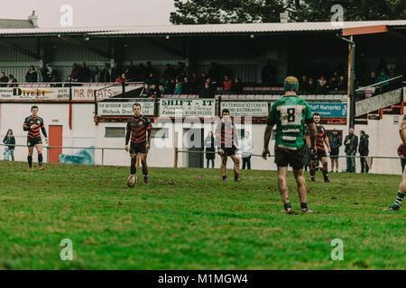 Penryn RFC vs Hayle RFC at The Memorial Stadium, Penryn, Cornwall, UK, 27th January 2018