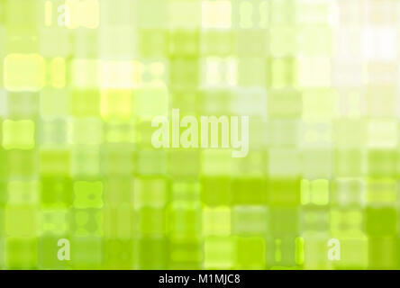abstract green splash background with many shapes in square type - Stock Photo