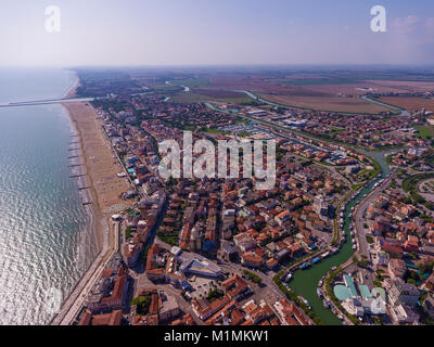 Venice is a city from a bird's eye view. Venice city from above. - Stock Photo