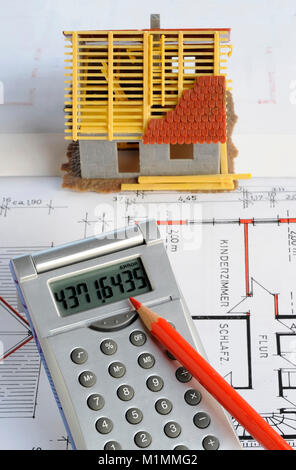 Construction costs residential property for owner-occupied homes real estate market, Wohneigentum Eigenheimzulage - Stock Photo