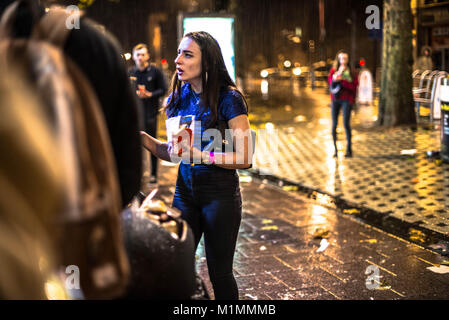 Cardiff, Wales, United Kingdom, 19/01/18. The End of Dry January. Dry January marks the month where people choose - Stock Photo