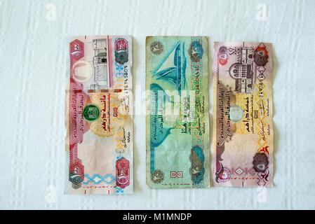 United Arab Emirates banknotes - Stock Photo