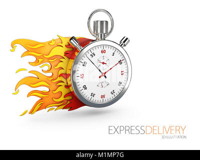 Express delivery icon for apps and website. Delivery concept. 3d illustration. - Stock Photo