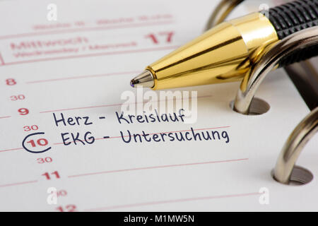 Termineintrag im Kalender - Stock Photo