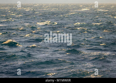 Storm in Kara sea on Sunny day after disappearance of ice - Stock Photo