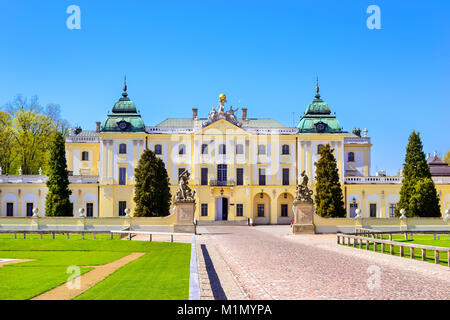 Branicki Palace and Medical University of Bialystok Clinical Hospitals in Poland. Architecture of baroque mansions - Stock Photo