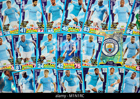 Manchester City football transfers tops match attax card trading game