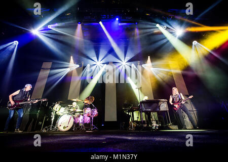 The English rock band Deep Purple performs a live concert at Grieghallen in Bergen. Norway, 05/02 2014. - Stock Photo