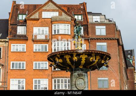 Caritas Fountain in Copenhagen - Stock Photo