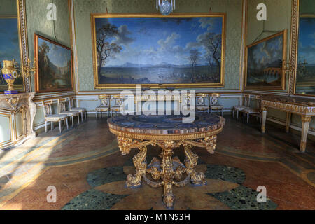 The apartments of the Royal Palace: baroque table (Caserta Royal Palace) - Stock Photo