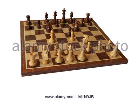 Chess opening. Two Knights Defence. - Stock Photo