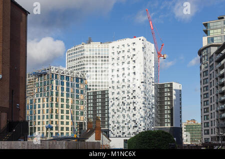 The new retail banking head office for HSBC in Birmingham being constructed - Stock Photo