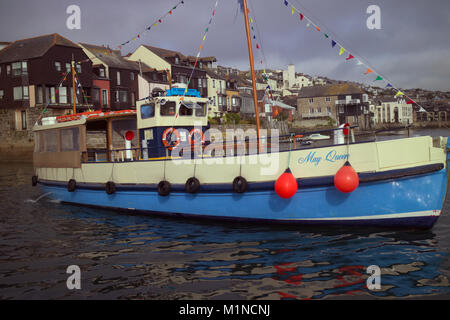 The St Mawes Ferry 'May Queen' in Falmouth, Cornwall - Stock Photo