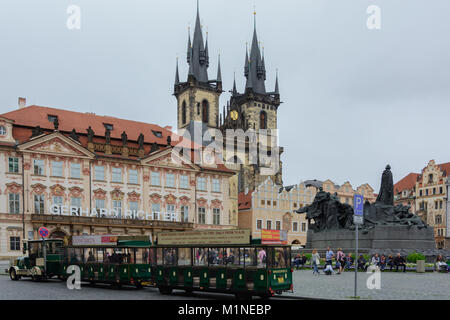 Old town Square Prague, Czech Republic July 2017 - Stock Photo