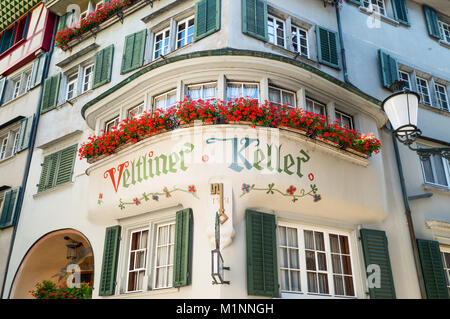 Zurich, Switzerland, An  traditional hotel in the old town - Stock Photo