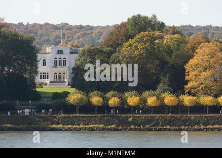 Bonn, Regierungsviertel (Bundesviertel, Parlamentsviertel), Villa Hammerschmidt, Bonner Sitz des Bundespräsidenten, - Stock Photo