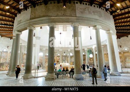 Santo Stefano al Monte Celio / The Basilica of St. Stephen in the Round on the Celian Hill, Rome, Italy - Stock Photo