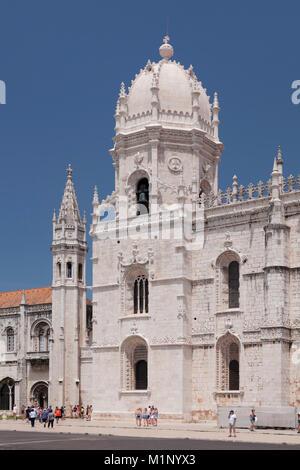 Mosteiro dos Jeronimos (Monastery of the Hieronymites), UNESCO World Heritage Site, Belem, Lisbon, Portugal, Europe - Stock Photo