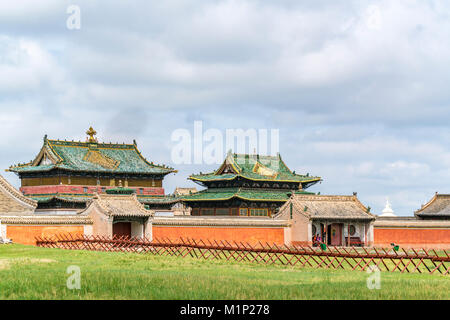 Temples in Erdene Zuu Monastery, Harhorin, South Hangay province, Mongolia, Central Asia, Asia - Stock Photo