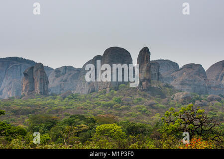 Black Rocks at Pungo Andongo, Malanje province, Angola, Africa - Stock Photo