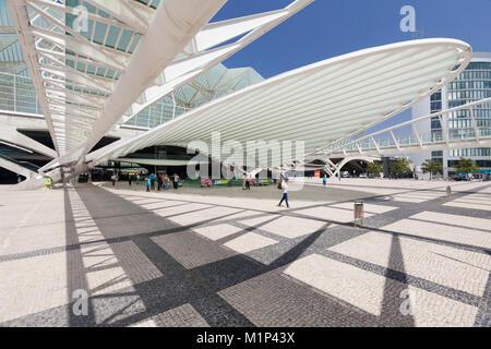 Oriente railway station, Santiago Calatrava architect, Lisbon, Portugal, Europe - Stock Photo