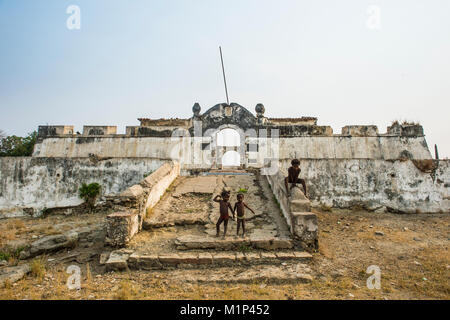 The fortress of Massangano, Cuanza Norte, Angola, Africa - Stock Photo