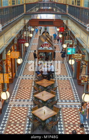 Adelaide Arcade on Rundle Mall in Adelaide, South Australia, Australia, Pacific - Stock Photo
