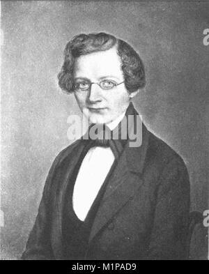 August Wilhelm von Hofmann (1818 – 1892) German chemist - Stock Photo