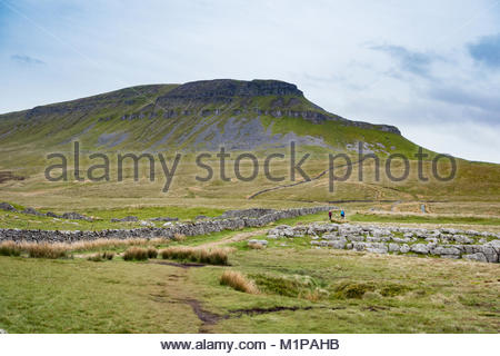 Pen y Ghent, one of the Yorkshire Three Peaks, near to Horton in Ribblesdale in the Yorkshire Dales - Stock Photo