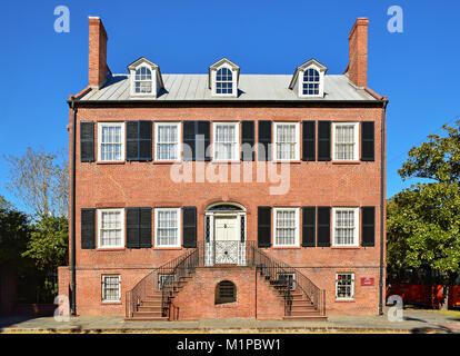 The Isaiah Davenport historic house and now a museum. Savannah, Georgia, United States. - Stock Photo