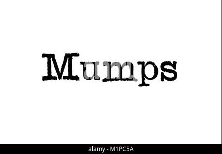 The word Mumps from a typewriter on a white background - Stock Photo