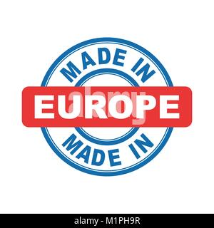 Made in Europe. Vector emblem flat - Stock Photo