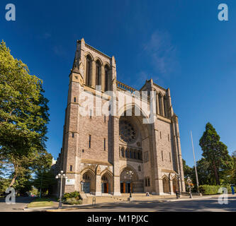 Christ Church Cathedral, The Anglican Church of Canada, Victoria, Vancouver Island, British Columbia, Canada - Stock Photo