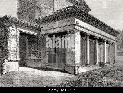 Arcus Argentariorum, San Giorgio, Velabro, Rome, Italy, 19th Century - Stock Photo