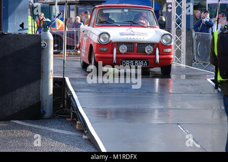 Banbury, UK, 01st February, 2018. Town celebrates return of Monte Carlo Rally for the first time since 1962. Banbury, - Stock Photo