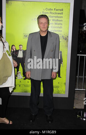 WESTWOOD, CA - OCTOBER 01: Christopher Walken arrives at the Los Angeles premiere of 'Seven Psychopaths' at Mann - Stock Photo